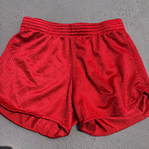 Red Mesh Shorts - Down 2 Earth