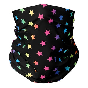 Multi Star Gaiter Mask (teens,woman,small adults)