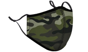 Green Camo Adjustable Adult Mask - Down 2 Earth