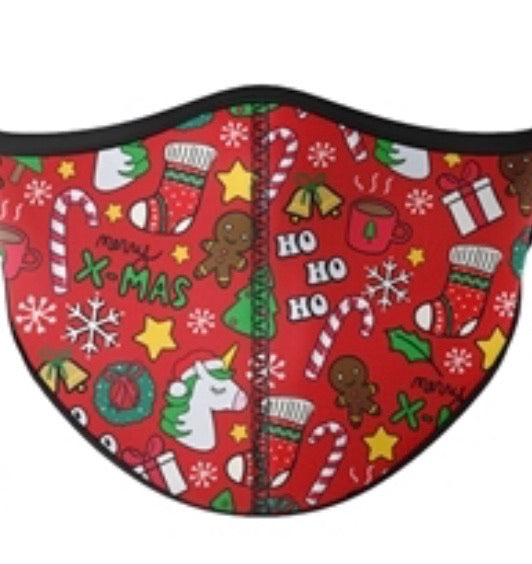 Christmas Fashion Red Adjustable Face Mask