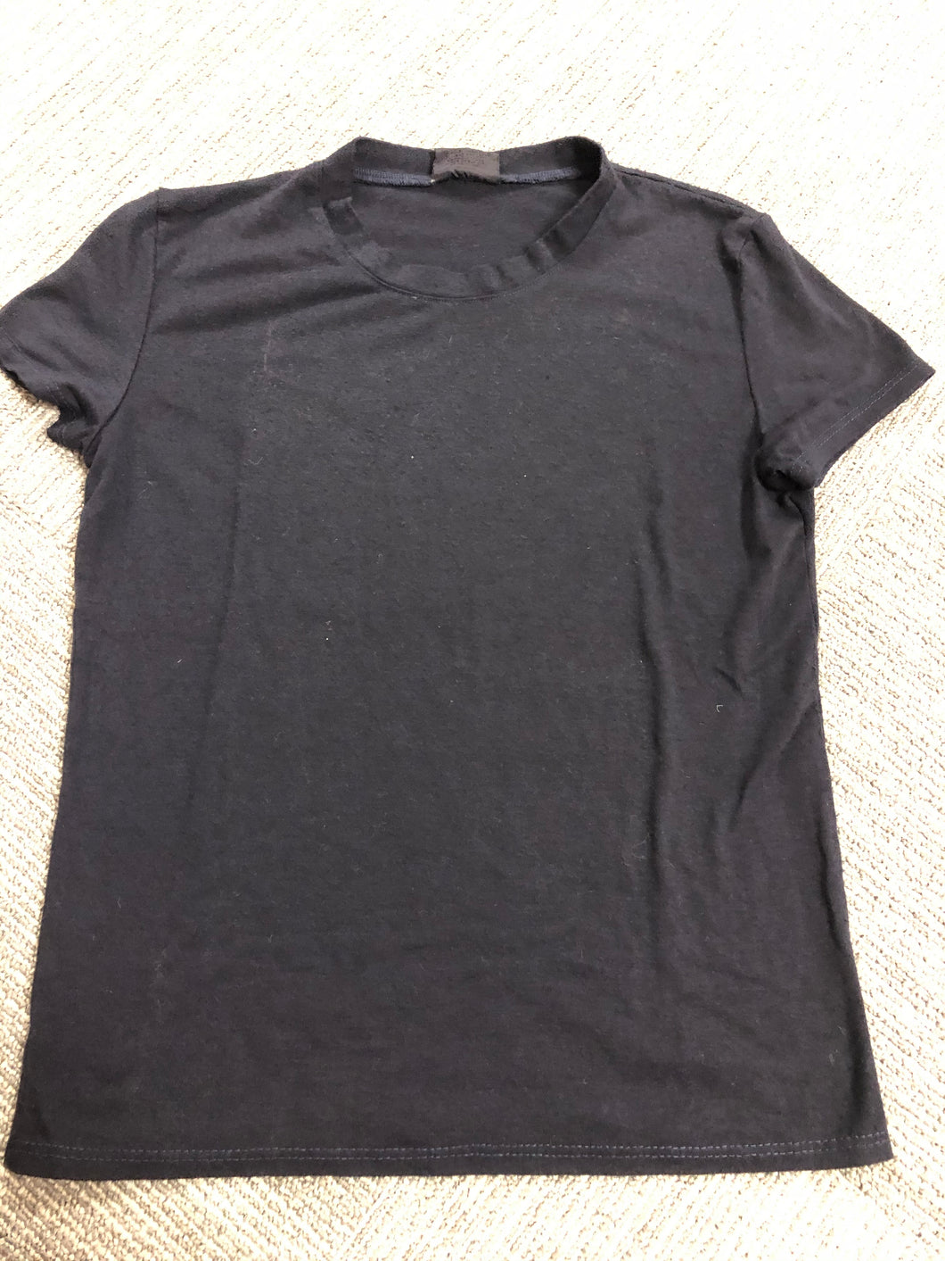 Black Round Neck T-Shirt - Down 2 Earth