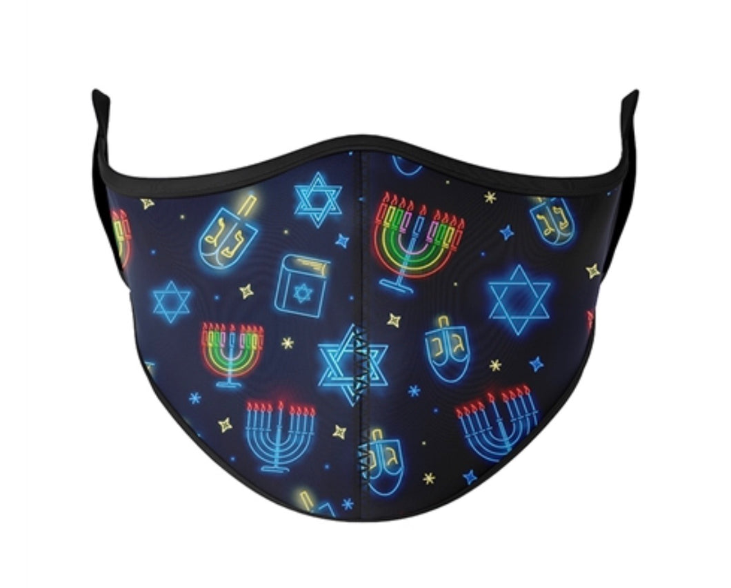 Happy Hanukkah Adjustable Mask