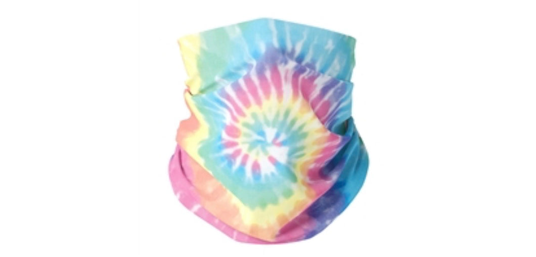 Pastel Tie Dye Gaiter Mask (teen & woman) - Down 2 Earth