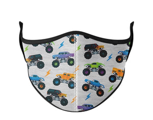 Monster Truck Toddler Adjustable Mask