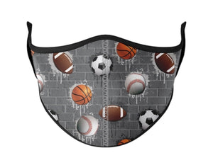 Adjustable Sports Face Mask (Kids) & (Adults)
