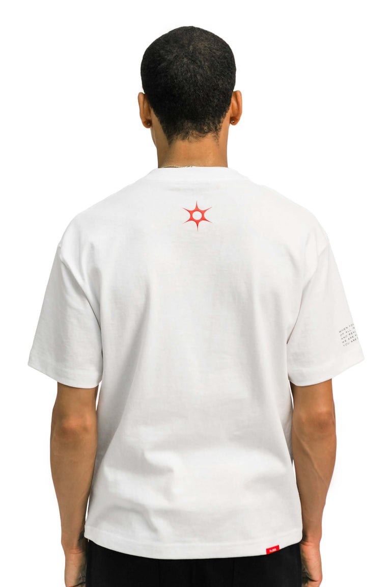 """Set Yourself Free"" Mantra Logo Tee - White"