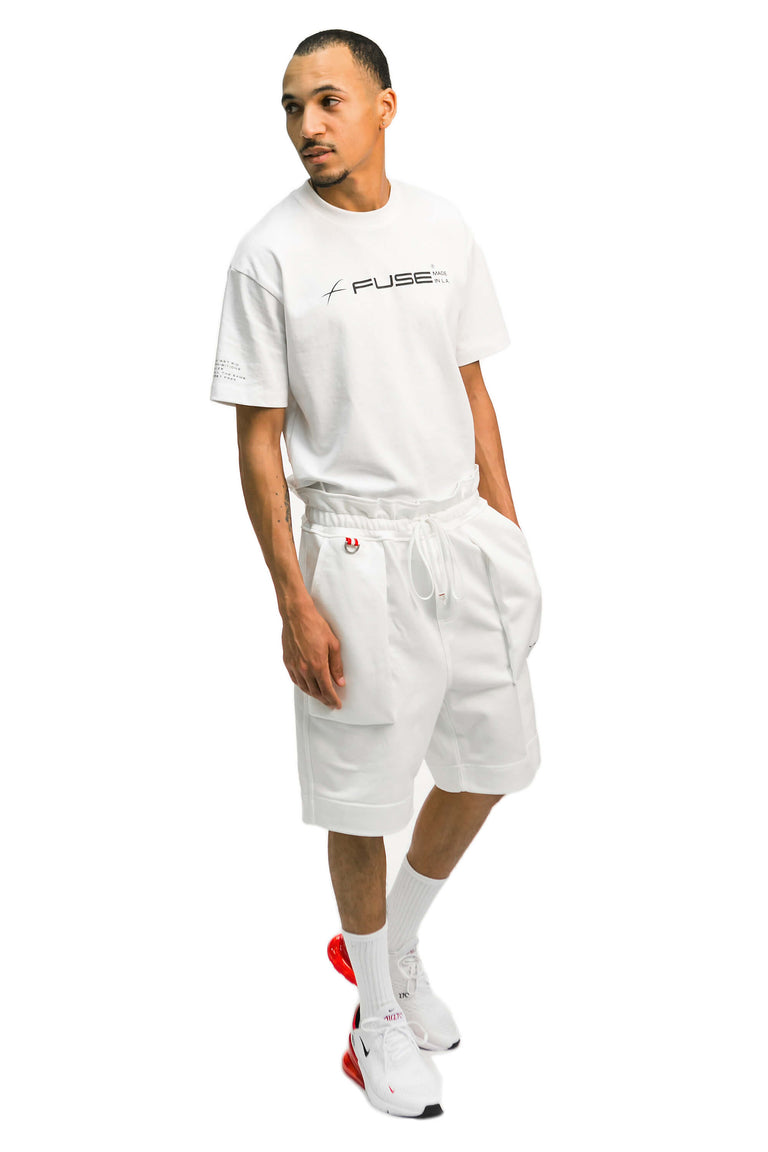 Basic Logo Shorts - White
