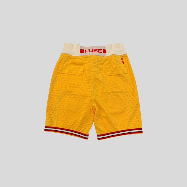 Signature Logo Mesh Shorts - Yellow