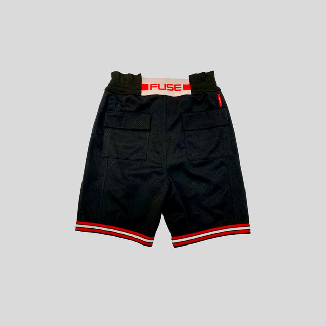 Signature Logo Mesh Shorts - Black