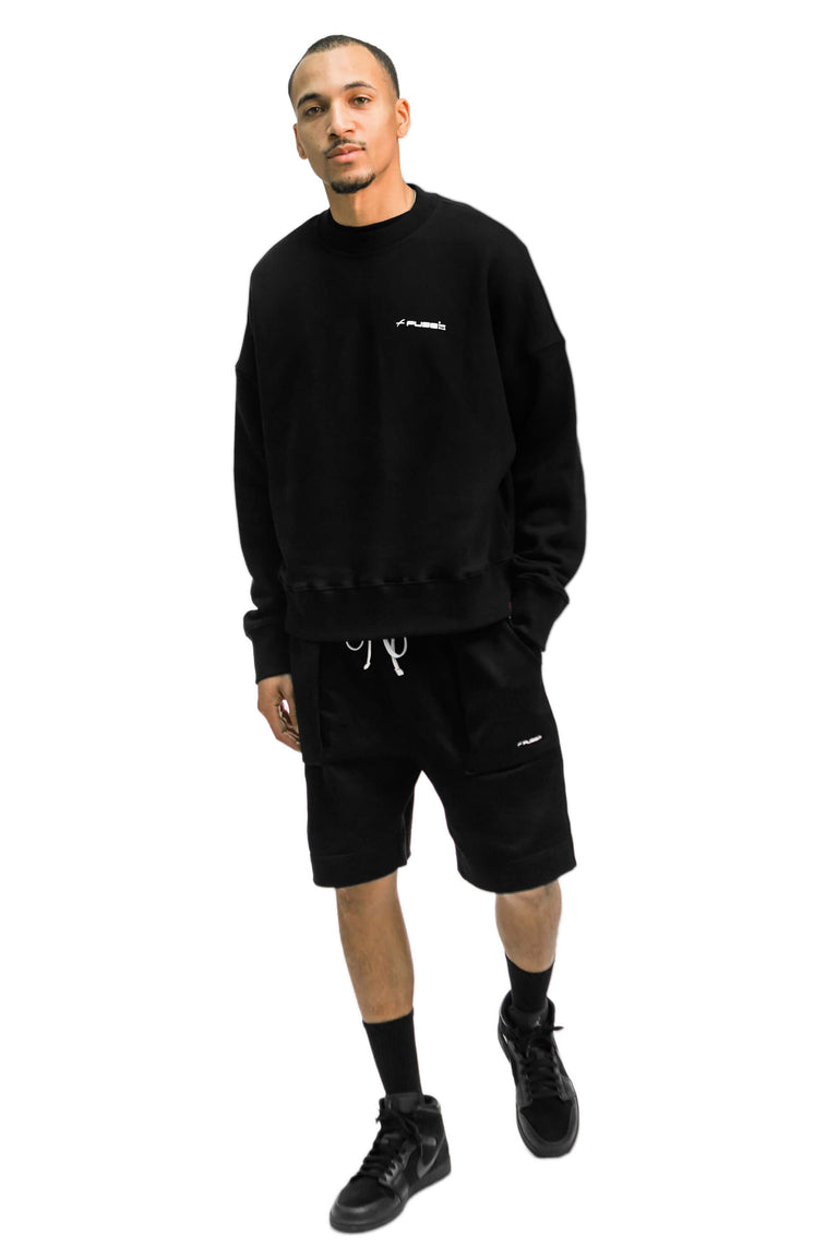 Signature Logo Shorts - Black