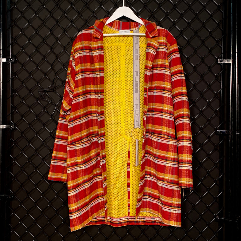 Oversize Flannel Coat - Red