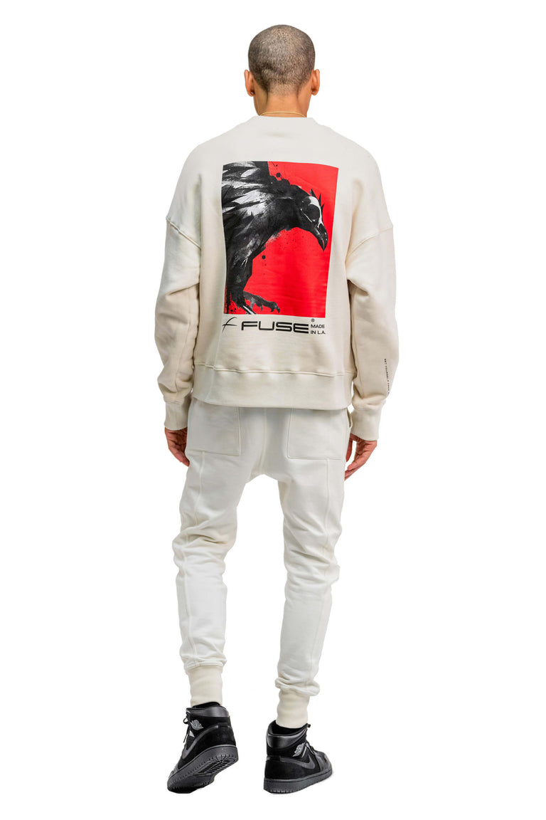 Red Box Bird Sweatshirt - Off White