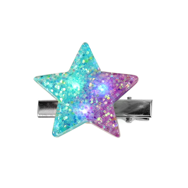 BrittsClips, Light up, Blinking LED Lights, Star Hair clip