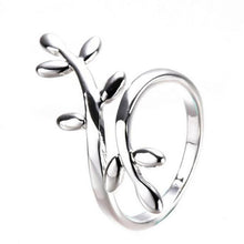 Load image into Gallery viewer, Leaf A ring of leaves rings Sparkling Leaves Ring Women Jewelry With Adjustable Size Tidal Temperamental ring for women #GH40