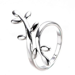 Leaf A ring of leaves rings Sparkling Leaves Ring Women Jewelry With Adjustable Size Tidal Temperamental ring for women #GH40