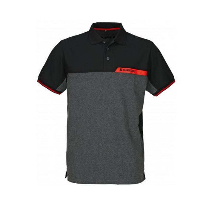Suzuki Team Black Polo Shirt Men's