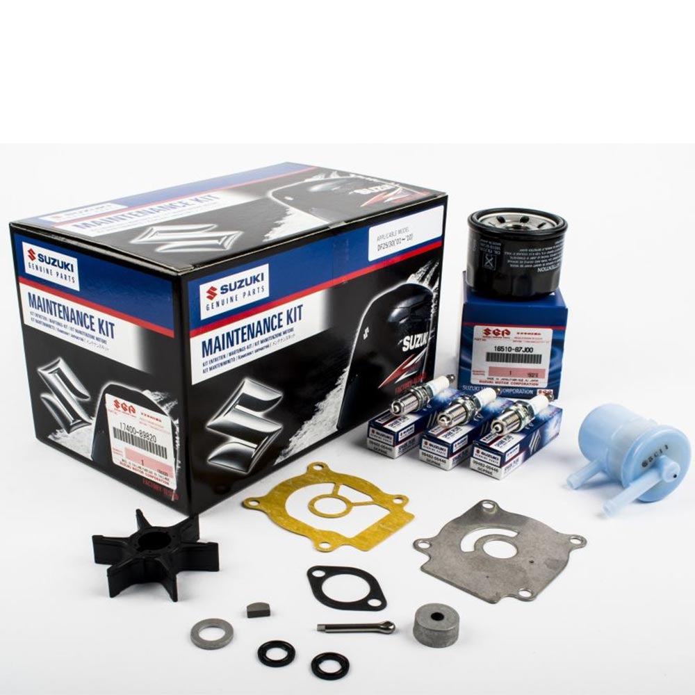 Suzuki Complete Service Kit for DF25 & 30 YR 2001, 2002, 2003, 2004, 2005, 2006, 2007, 2008, 2009, 2010 Part No 17400-89820-000