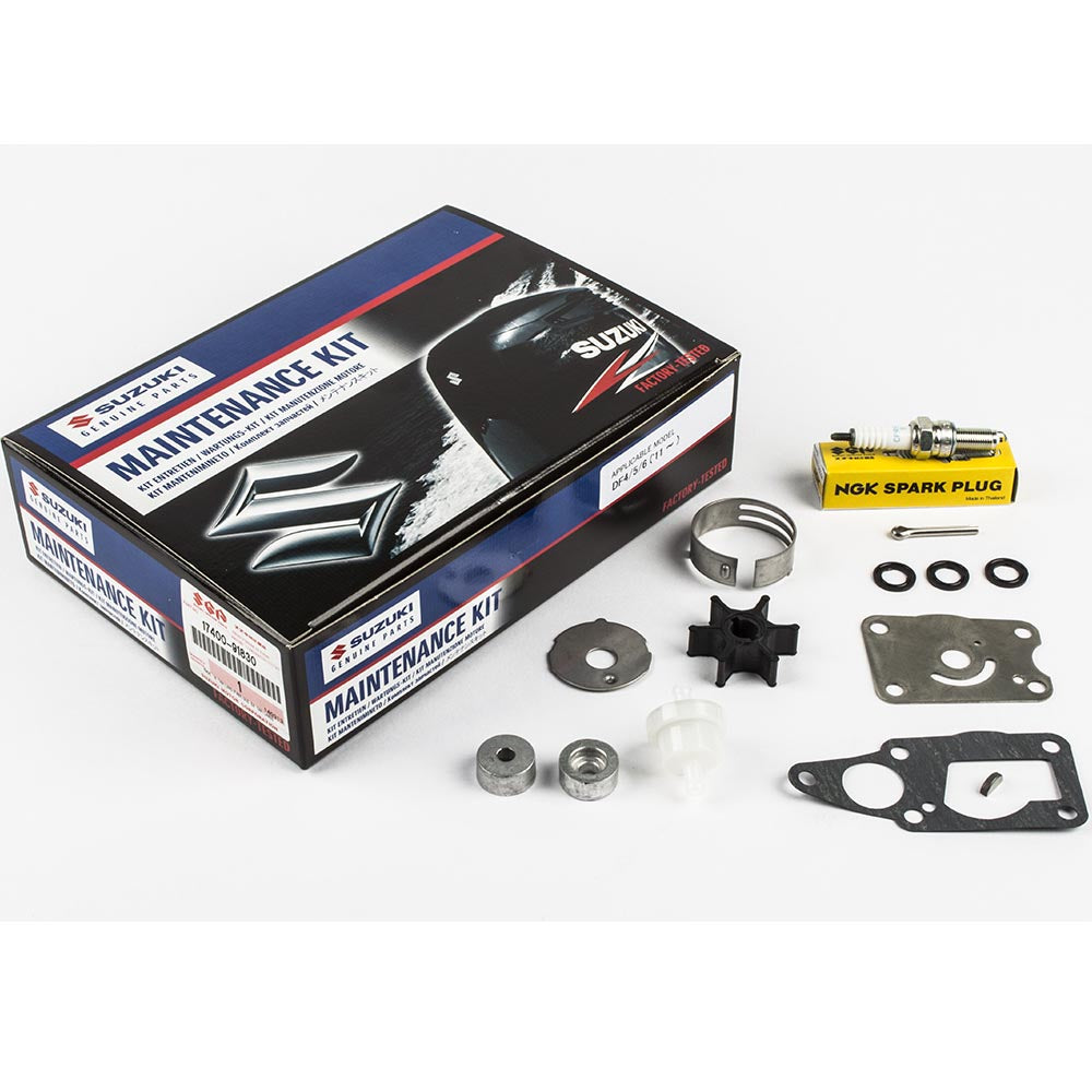Suzuki Complete Service Kit for DF4 & 5 & 6 YR 2011, 2012, 2013, 2014, 2016 Part No 17400-91830-000