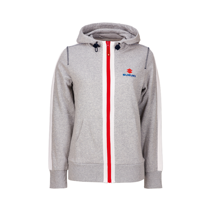 Suzuki Team White Sweat Jacket Ladies'