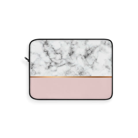 Pink & White Marble Laptop Sleeve