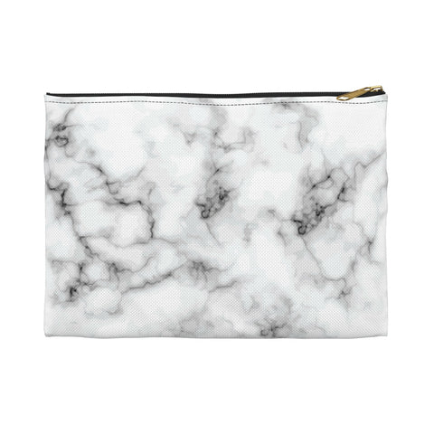 White & Black Marble Makeup Bag