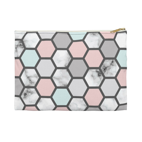 Geometric Polka Dot Makeup Bag