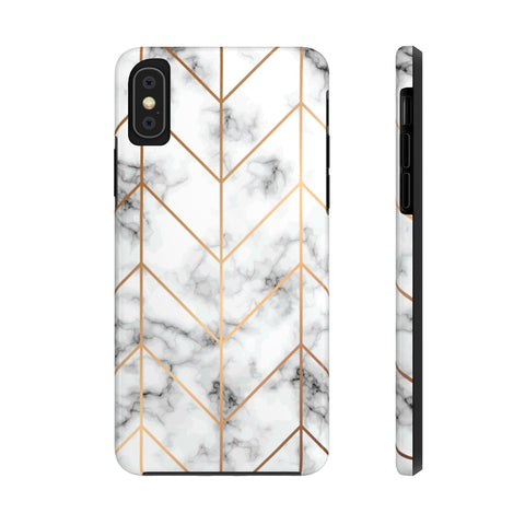 White & Gold Marble Phone Case