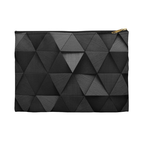 Black Triangle Makeup Bag