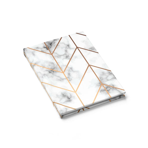 White & Gold Marble Journal