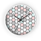 Geometric Polka Dot Wall Clock