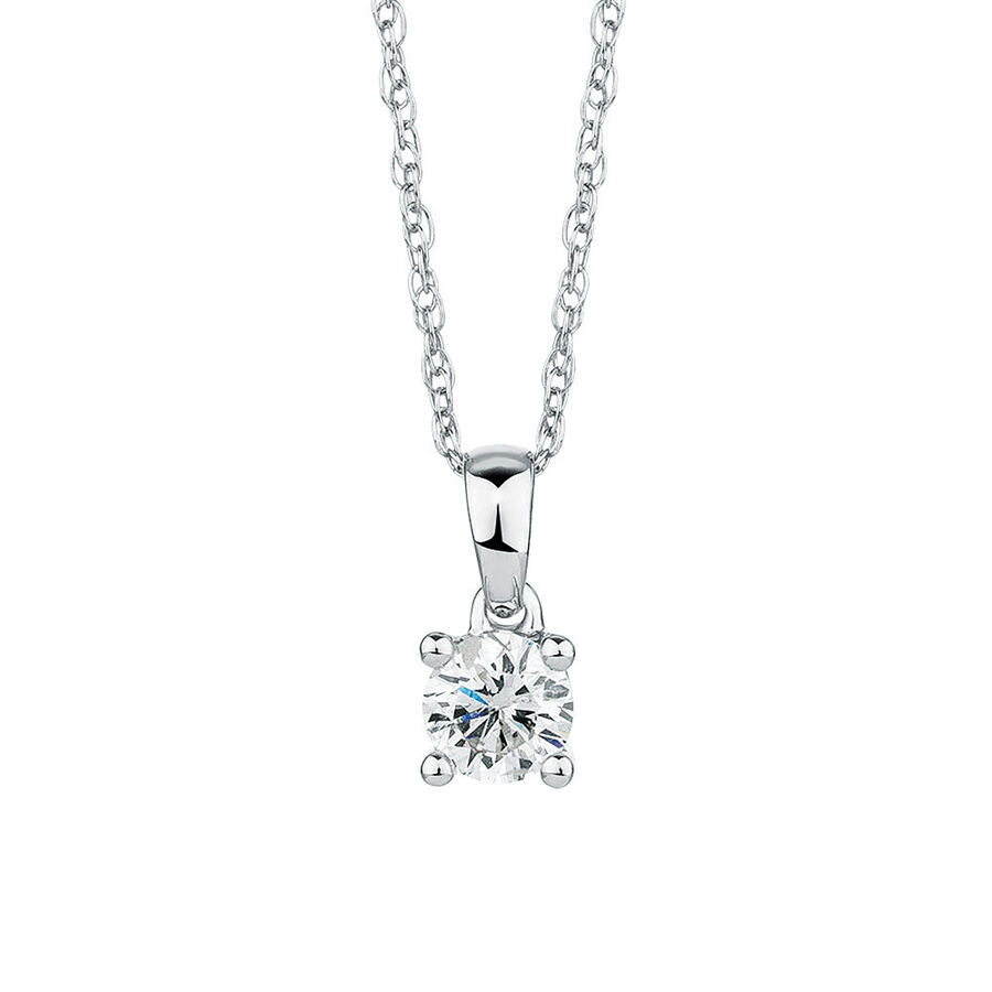 Four Claw Diamond Pendant 0.30ct