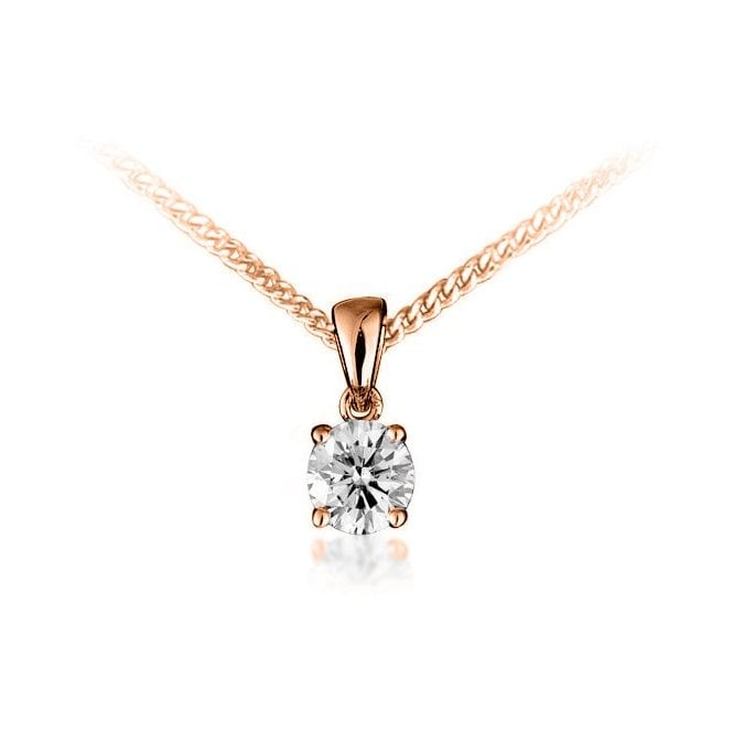 Four Claw Diamond Pendant 0.40ct