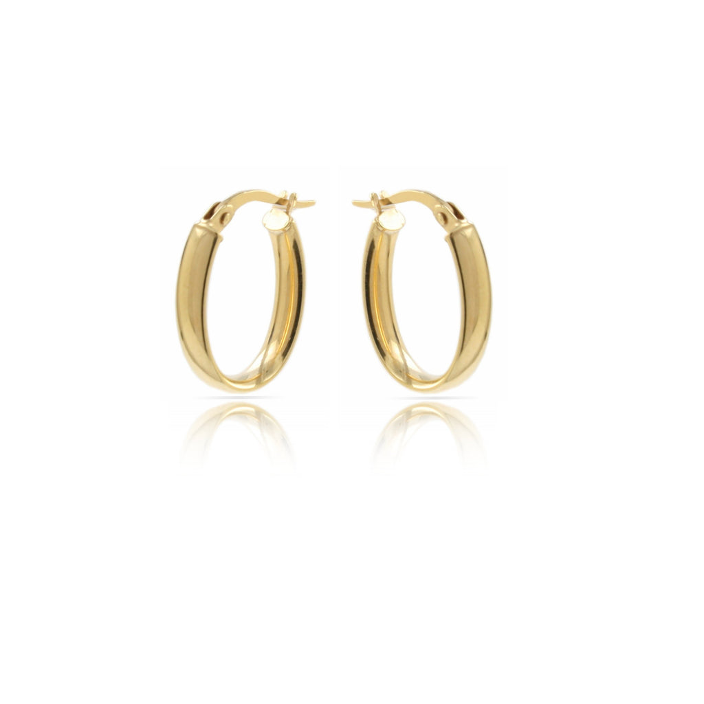 Gold D-Shaped Hoops