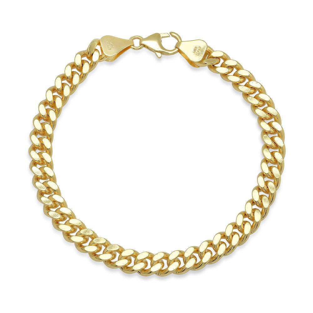 Gold Filled 7mm Baby Curb Bracelet