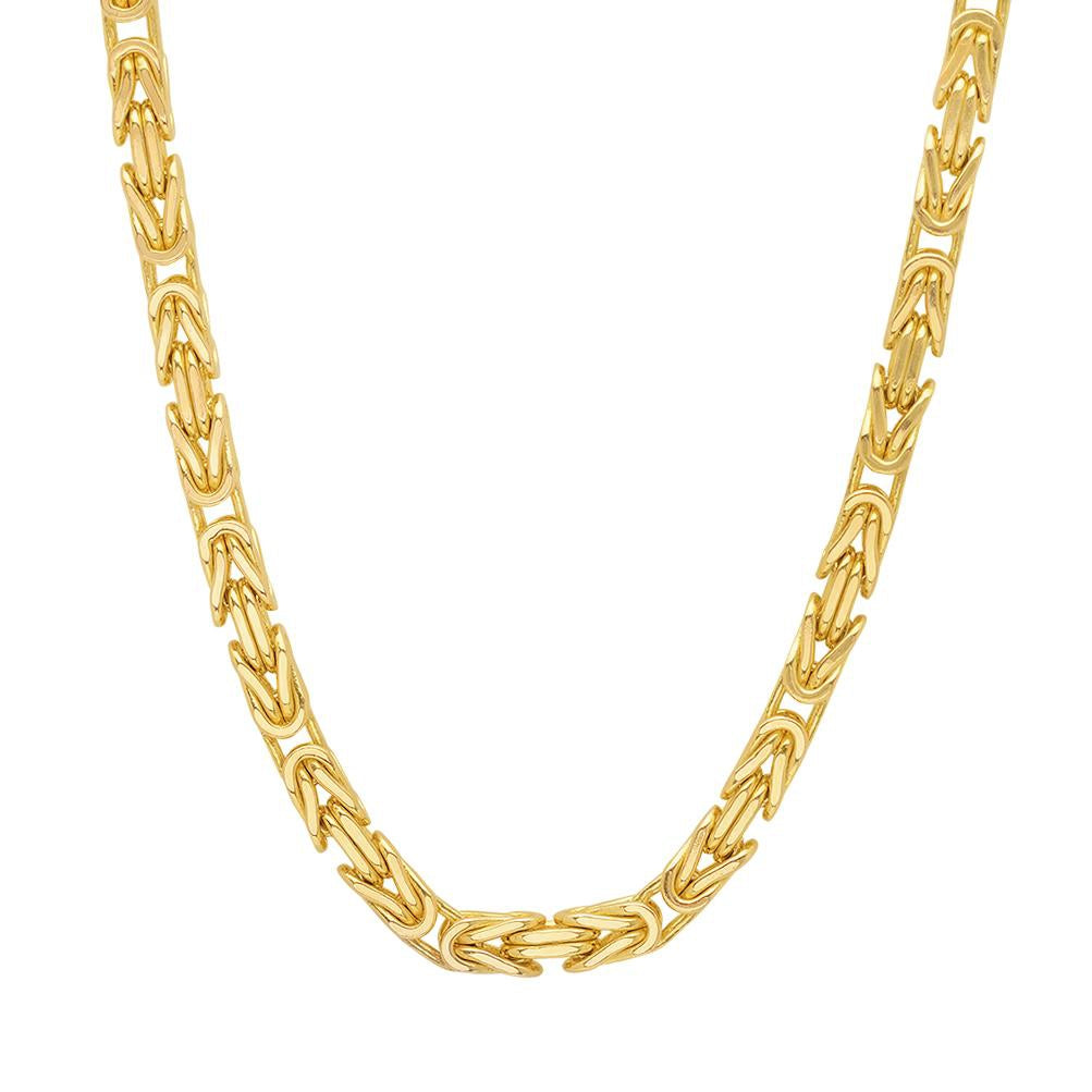 Gold Filled 7mm Flat Byzantine Necklace