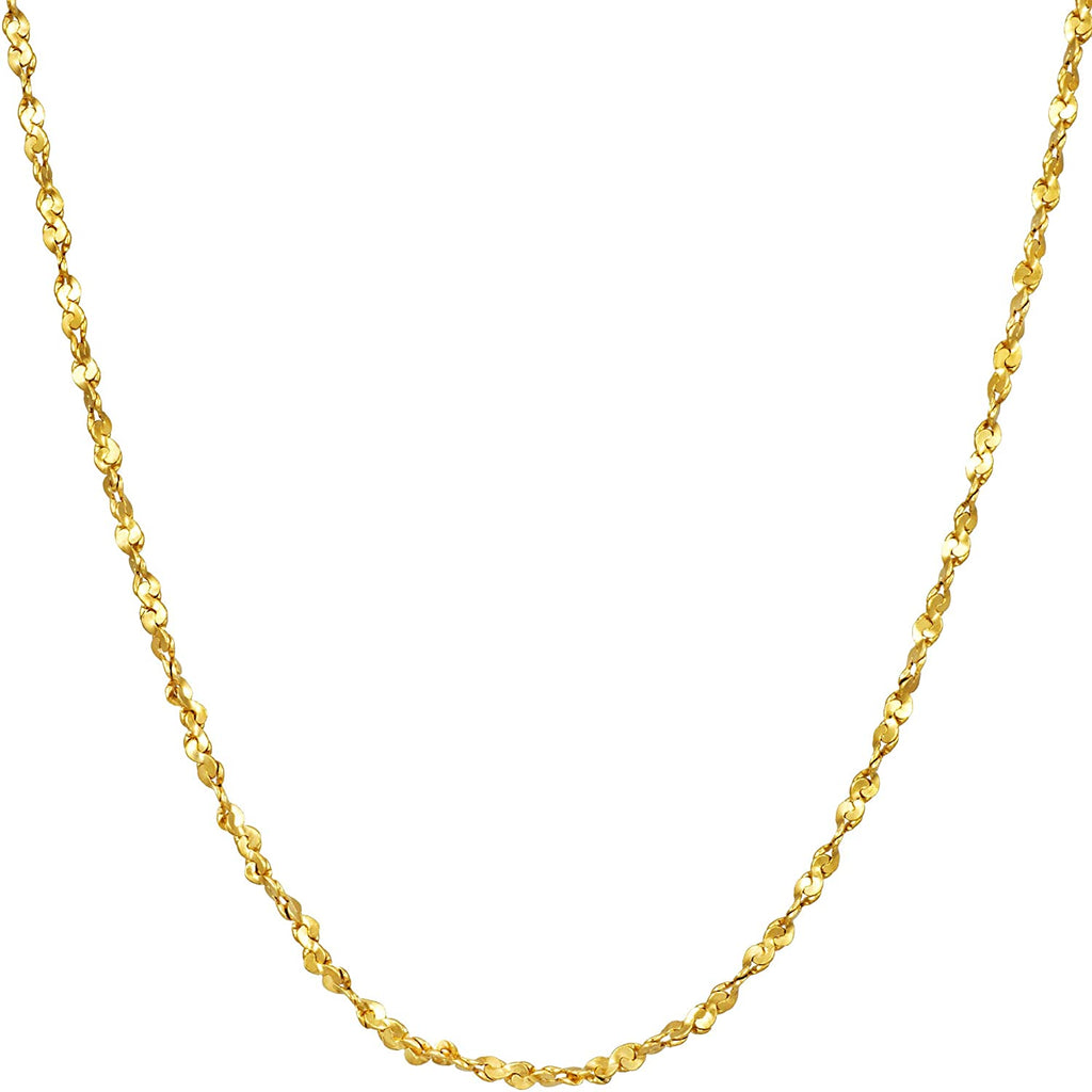 Yellow Gold Twisted Nugget Chain (45cm)