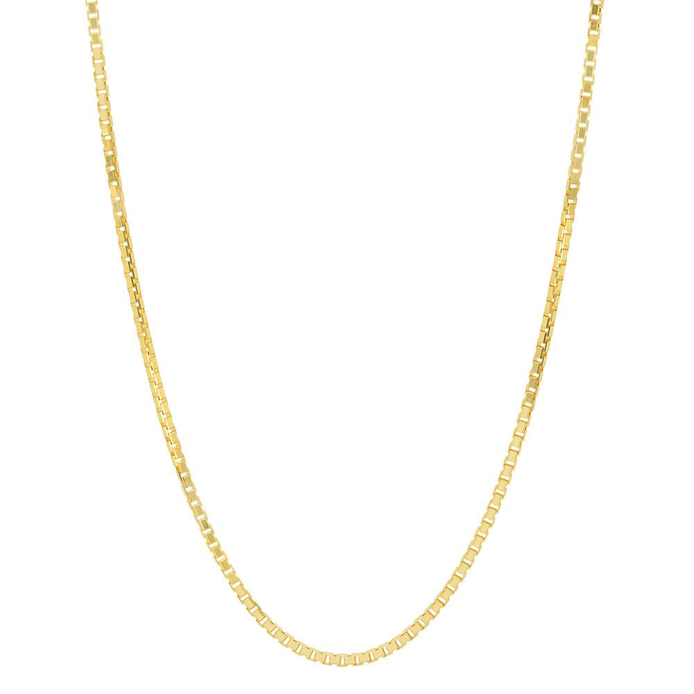 Gold Filled Classic Fine Box Chain (1mm)