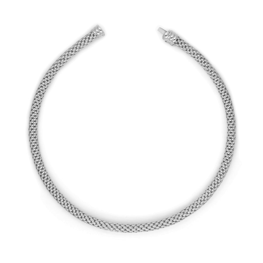18ct White Gold Fope Chain (55cm)