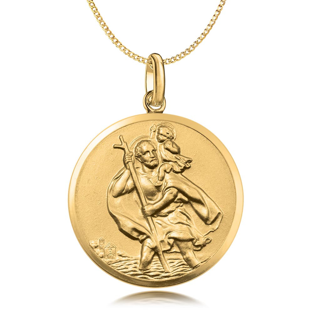 9ct Gold St. Christopher Pendant
