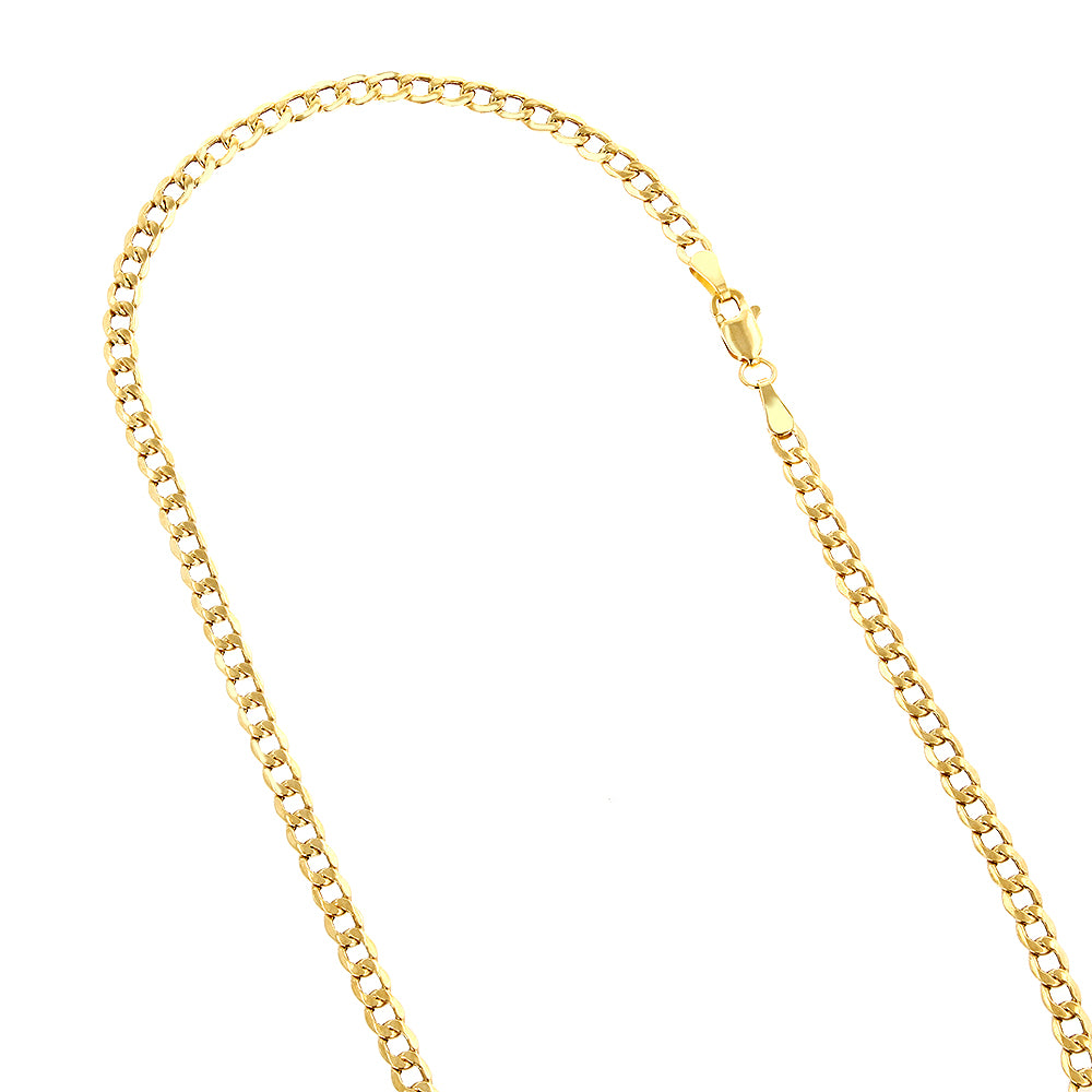 Gold Filled Long Fine Curb Neck Chain