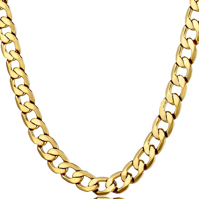 Gold Filled Medium Weight Oval Curb Neck chain