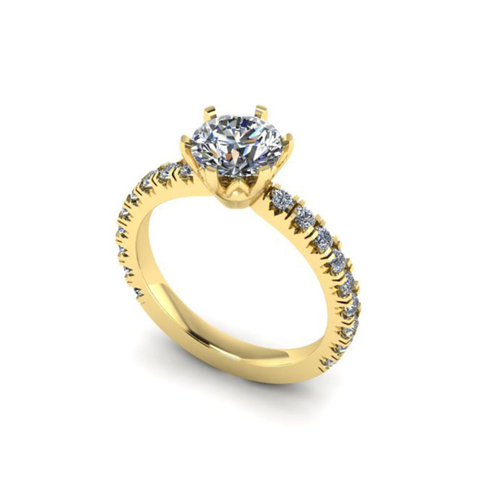 18ct YELLOW GOLD DIAMOND ENGAGEMENT RING (SF16347)
