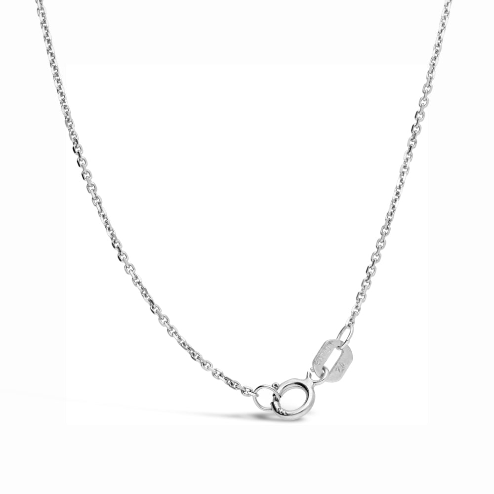 18ct White Gold Anchor Chain (50cm)