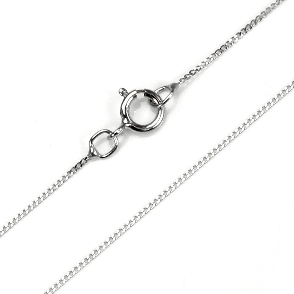 18ct White Gold Baby Curb Chain (45cm)