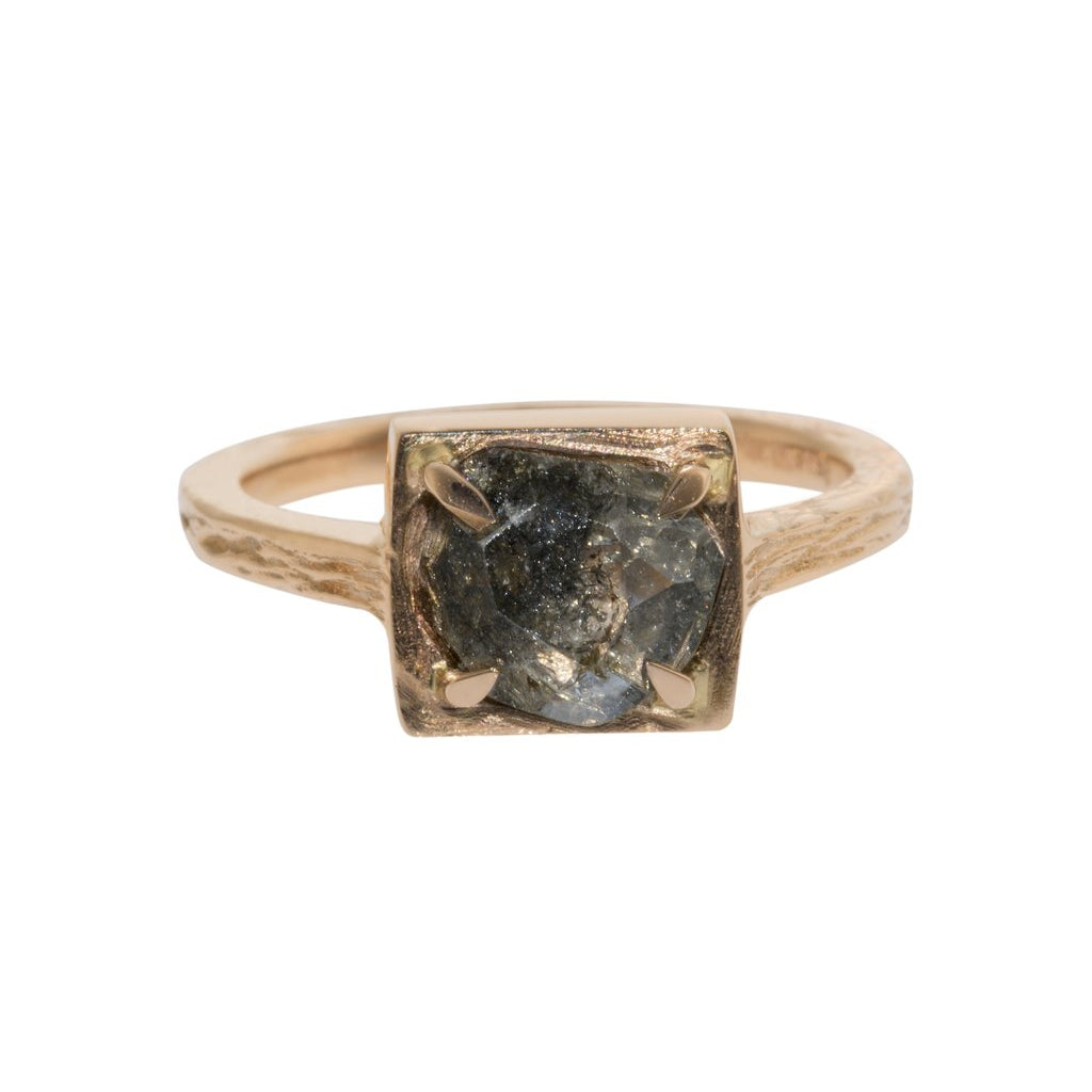 Four Claw Rose Gold Ring