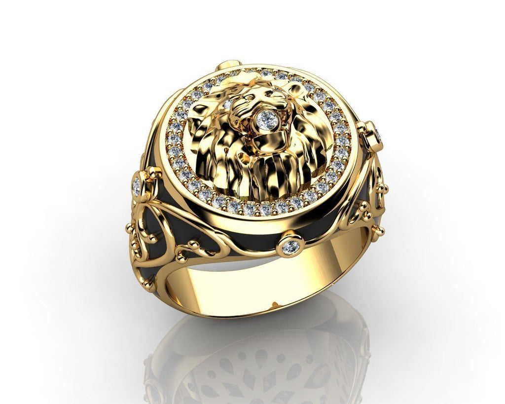 Otzar Diamond Encrusted Lion Ring