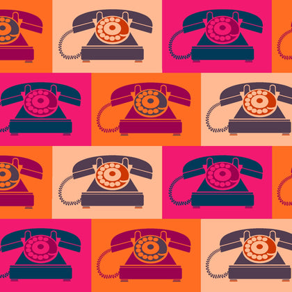Ring Ring - Vintage Telephone Red