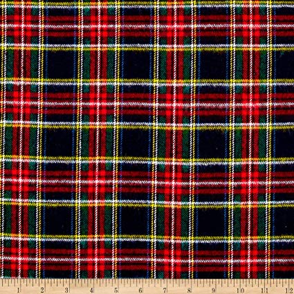 "Black Highlander Flannel 34"" Remnant"