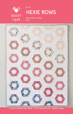 Hexie Rows -Quilty Love Paper Pattern
