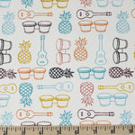 Beach Fare in Multi Poplin